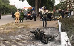 Vượt đèn đỏ bị CSGT xử lý, người đàn ông tự châm lửa đốt xe cháy rụi