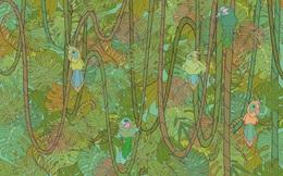 Trong 1 giây, bạn có nhìn ra con rắn đang ẩn nấp trong khu rừng?