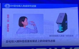 Vắc-xin COVID-19 dạng hít của Trung Quốc có thể sử dụng giống như 'uống coca'
