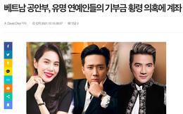 Báo Hàn Quốc nói gì về vụ từ thiện của Trấn Thành, Đàm Vĩnh Hưng, Hoài Linh?