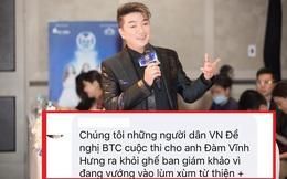 """Dân mạng quá khích tràn vào """"tẩy chay"""" Đàm Vĩnh Hưng trên fanpage Miss World Vietnam 2021"""