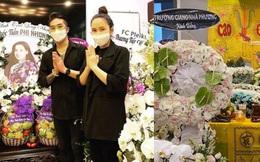 Khánh Đơn cùng vợ đến viếng ca sĩ Phi Nhung, Trường Giang - Nhã Phương, Tóc Tiên cùng dàn sao Vbiz gửi hoa chia buồn