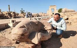 Phát hiện tượng đầu cừu khổng lồ trên 'Đại lộ Nhân sư' ở Ai Cập