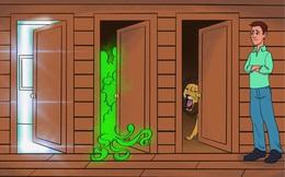 """Câu đố """"hại não"""": Cánh cửa nào an toàn?"""
