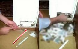 Thấy có vết nứt bất thường trong căn nhà mới mua, cạy ra xem, chủ nhân không dám tin vào mắt mình