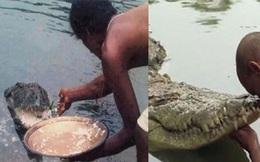 Cá sấu khổng lồ 70 năm nương nhờ cửa Phật, chỉ thích ăn cơm trắng với đồ chay, thậm chí còn hiểu tiếng người