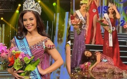 Chưa từng có ở Chung kết: Tân Miss World Philippines ngã bổ nhào 2 lần ngay trên sân khấu, vương miện và hoa... rơi lả tả