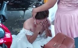 Cô dâu khóc nức nở khi biết tin bị lừa trong đám cưới