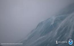 Dựng tóc gáy với cảnh quay đáng sợ như phim thảm họa từ cơn bão cấp 4 giữa biển khơi