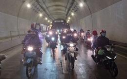 Lần đầu trong lịch sử: Hầm Hải Vân mở cửa cho xe máy chạy qua