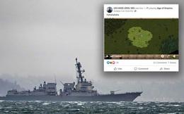 Fanpage của tàu khu trục thuộc hải quân Mỹ bị 'ai đó' hack để stream Đế Chế, mỗi tội chơi mãi không 'kích' được đời 1