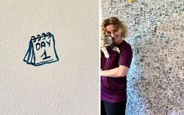 Nữ họa sĩ vẽ nhật ký lên đầy tường khi cách ly, hình ảnh bé xíu xiu mà cái nào cũng có ý nghĩa riêng cả