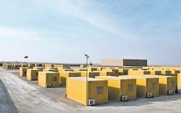 Quân đội Trung Quốc  dựng doanh trại di động bằng container