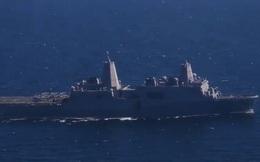 Siêu tàu đổ bộ USS Somerset của Mỹ đi qua eo biển Hormuz