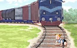 Nhận ra em bé trên đường ray, người đàn ông ra quyết định táo bạo trong phút chốc