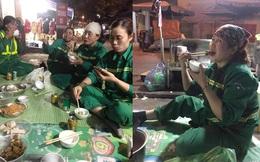 Bữa cơm tất niên đặc biệt của các cô lao công: Không đoàn tụ cùng gia đình những nụ cười vẫn nở trên môi!