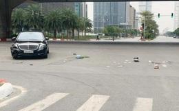 Tai nạn giữa xe Mercedes và xe máy ngày mùng 1 Tết ở Hà Nội: Chồng bị thương nặng, vợ bị thương