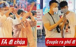 Sài Gòn đêm Valentine: Hội ế tranh thủ đi chùa thoát kiếp FA, couple tràn ra phố đi bộ Nguyễn Huệ đến mức kẹt đường!