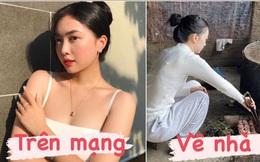 Người yêu Hà Đức Chinh hoá gái đảm khi về quê chàng ăn Tết, khác xa ảnh sang chảnh trên mạng