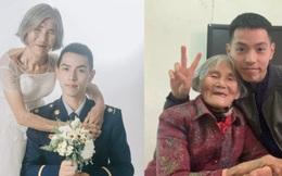 """Bộ """"ảnh cưới"""" của chàng lính cứu hỏa và """"cô dâu"""" lệch tới 61 tuổi gây chấn động MXH, hóa ra đằng sau là câu chuyện ấm lòng ít ai đoán được"""