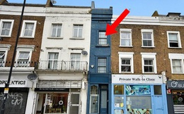 """Cận cảnh ngôi nhà """"mỏng nhất nước Anh"""" trị giá hơn 30 tỷ đồng, nhiều người chê bai nhưng khi vào trong phải tấm tắc khen: Không ở thì phí!"""