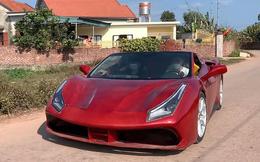 Chiếc siêu xe Ferrari 488 GTB rẻ như xe máy Honda SH chạy trên đường làng Việt Nam