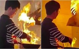 """Video: Con rể trổ tài nấu nướng không ngờ lại gây họa, bố mẹ vợ chỉ biết """"câm nín"""""""