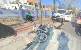 Tài xế ô tô tải buồn ngủ gây tai nạn giữa phố Đà Lạt