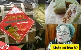 Hồi hộp ăn thử bánh chưng nhân cá kho làng Vũ Đại: Giá 80k/cái, nhân đủ cả thịt, cá lẫn… xương!