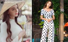 Bùi Tiến Dũng ngẩn ngơ, khoe vội ảnh đẹp khi bạn gái Ukraine diện áo dài Việt Nam