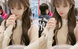 """Uống sữa đậu nành bằng ống xả nước máy giặt ở nhà hàng, hotgirl của Trung Quốc phải hứng chịu """"cơn mưa"""" gạch đá từ dân mạng"""