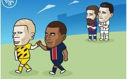 """Biếm họa 24h: Thế hệ mới """"đẩy lùi"""" Ronaldo và Messi về quá khứ"""