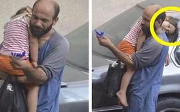 Bế con đi bán bút bi dạo, người đàn ông không biết mình bị chụp lén, bất ngờ hơn là nhờ con gái nhỏ mà đổi đời ngoạn mục