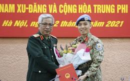 Chân dung sĩ quan tốt nghiệp chuyên ngành biệt động lên đường làm nhiệm vụ tại LHQ