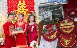 """Đám cưới ngập tràn tiền vàng ở An Giang, ảnh chụp đã hoa mắt nhưng cô dâu nói: """"Vẫn còn"""""""