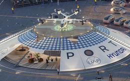 Trình làng sân bay đầu tiên trên thế giới dành cho máy bay không người lái và taxi bay