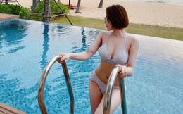 Đường cong gợi cảm của hot girl Trâm Anh sau khi Nam tiến