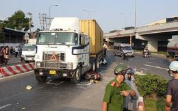 TP.HCM: Xe container ôm cua tại giao lộ, cán tử vong người đàn ông đi xe máy