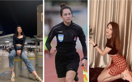 Nhan sắc 'vạn người mê' của nữ trọng tài tại giải Hạng Nhất QG 2021