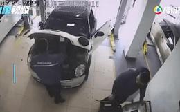 Kiểm tra động cơ ô tô, nhân viên sửa chữa giật bắn mình bỏ chạy sau khi chứng kiến cảnh này