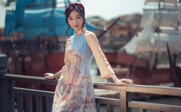 Người đẹp Kiều Vỹ nền nã với áo dài của NTK Thanh Thúy