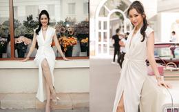 Trúc Diễm diện váy tự thiết kế tại sự kiện thời trang