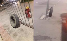 """Bị bảo vệ khóa, chủ ô tô quyết định dùng biện pháp """"bánh ơi ở lại xe đi nhé"""""""