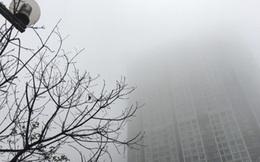 Miền Bắc mờ mịt sương mù, trời âm u