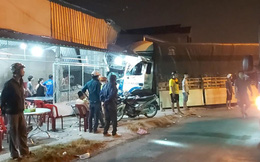 Tiền Giang: Thảm nhựa đường không đặt cảnh báo, một xe tải lao vào nhà dân