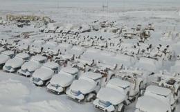 """""""Thị trấn ma"""" ở Nga gần như tàng hình trong tuyết"""
