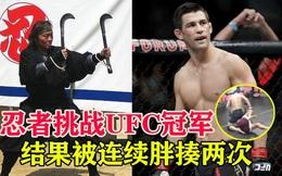 Chiến binh Ninja bị đấm no đòn, phải xin thua vì dám thách đấu nhà vô địch UFC