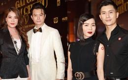 """2 couple chị em hot nhất Vbiz phát """"cẩu lương"""" trá hình trên thảm đỏ: Cái ôm eo của Lâm Bảo Châu cho Lệ Quyên chiếm spotlight"""