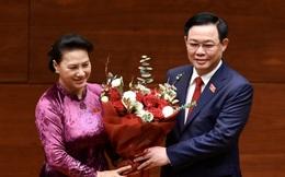 Toàn cảnh Chủ tịch Quốc hội Vương Đình Huệ tuyên thệ nhậm chức và điều hành phiên họp
