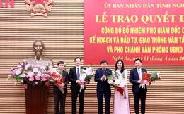 Bổ nhiệm nhiều cán bộ sở, ngành tỉnh Nghệ An